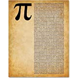 Pi - 11x14 Unframed Patent Print - Great Gift for Math Lovers (Color: Brown, Tamaño: Medium)