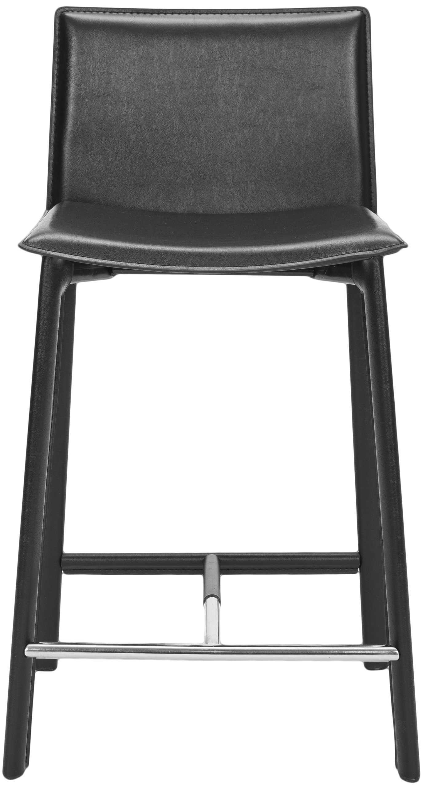 Safavieh home collection callie black leather 24 inch - Amazon bedroom chairs and stools ...