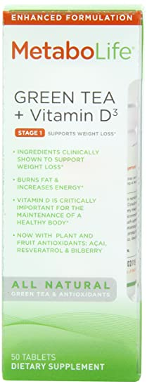 Отзывы Twinlab Metabolife Green Tea + Vitamin D3
