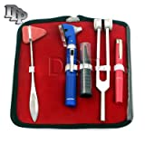 DDP LED FIBER OPTIC OTOSCOPE TUNING FORK C128 TAYLOR HAMMER DIAGNOSTIC ENT SET BLUE