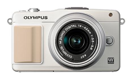 """Olympus E-PM2 Appareil photo numérique compact hybride 12 Mpix Écran LCD 3"""" Kit boîtier + Objectif 14 42mm Noir/Blanc"""