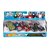 Hot Wheels Marvel Avengers Die-Cast Vehicle, 5-Pack (Tamaño: 5-Pack)