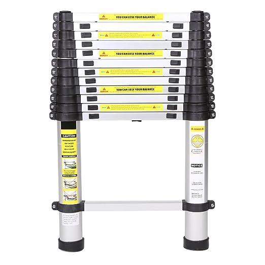 Ma trading escalera de aluminio telesc pica 3 80 m - Escalera plegable altillo ...