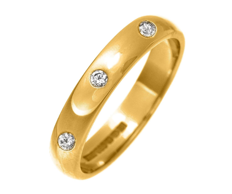 9 Karat (375) Gold 4mm Damen – Diamant Trauring/Ehering/Hochzeitsring Brillant-Schliff 0.15 Karat H-SI2 2,4 Gramm günstig online kaufen