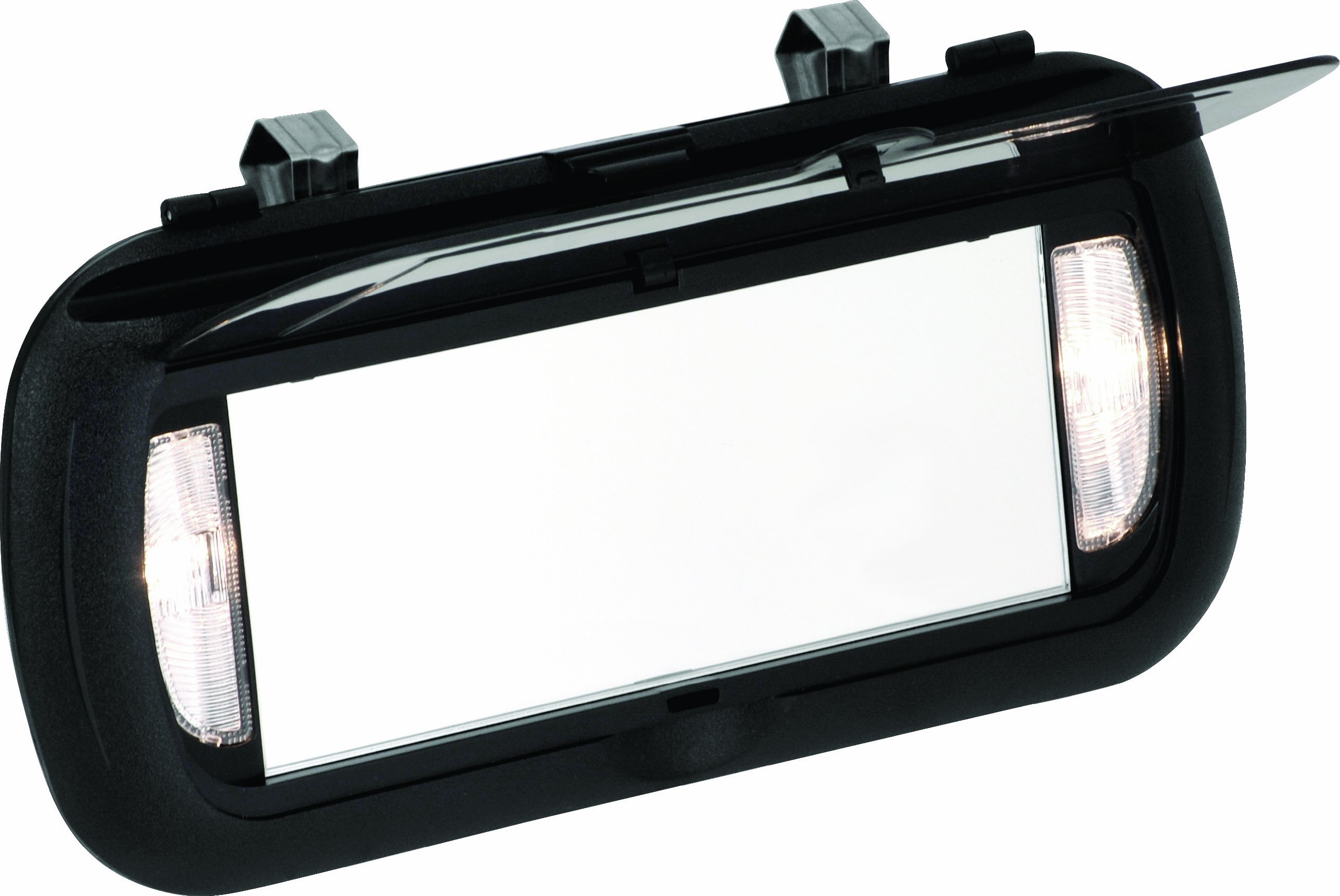 Bell automotive 22 1 00449 8 large lighted visor mirror ebay for Mirror visor