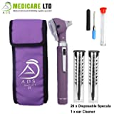Purple Piccolight Fibre Optic Mini Otoscope with Complimentary Ear Cleaner