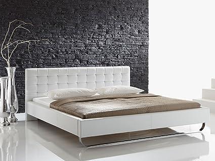 "Polsterbett Betten Bett Ehebett Jugendbett Einzelbett Doppelbett ""Fly I"" (180x200 cm, Weiß)"