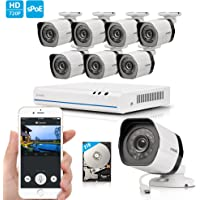 Zmodo 1080p 8Ch. NVR System Home Video Security Cameras with 2TB HDD