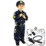 Joyin Toy Spooktacular Creations Deluxe Police Officer Costume and Role Play Kit (S 5-7) (Color: Navy Blue, Tamaño: Small)