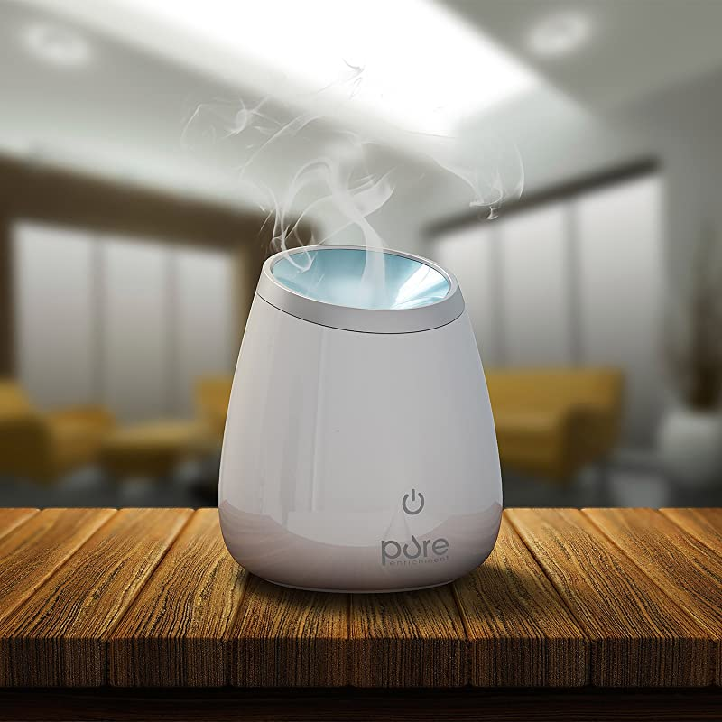 PureSpa Deluxe Ultrasonic Aromatherapy Oil Diffuser — High Capacity Aroma Diffuser Lasts for Up to 10 Hours with Automatic Shut-Off for Home & Office Safety via Amazon