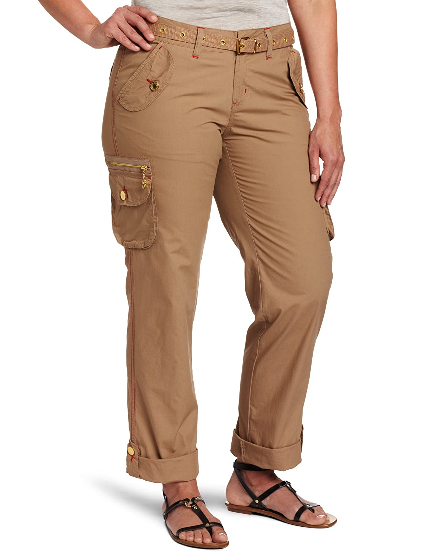 Womens Khaki Cargo Pants