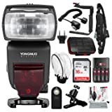 Yongnuo YN685 Wireless TTL Speedlite for Canon Cameras with 16GB Card, Flash Bracket and Diffuser, DSLR Shoulder Strap, Xpix Cleaning Kit, and Platinum Bundle