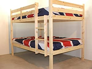 DOUBLE Bunkbed with TWO mattresses   4ft 6 TWIN Bunk Bed   VERY STRONG BUNK!   Heavy Duty Use   Includes TWO sprung mattresses       review