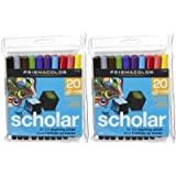 Prismacolor Scholar Bullet Tip Water Based Art Markers-Assorted-20 ct, 2 pk