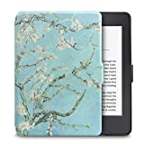 WALNEW Amazon Kindle Paperwhite Case Lightest and Thinnest Premium Leather Smart Protective Cover for Kindle Paperwhite with Auto Wake/Sleep Function,Tree and Flower