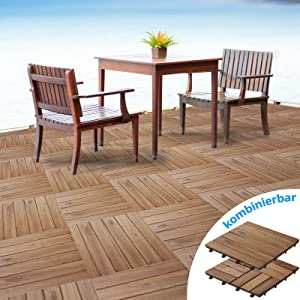 casa pura® Terrassenfliesen Set Arden | Holz, Akazien | 99 Stück  9m²  BaumarktKundenberichte und weitere Informationen