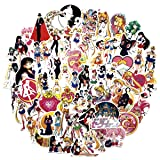 Sailor Moon Sticker Sheet 73-Piece Multicolor Vinyl Stickers (Sailor Moon)