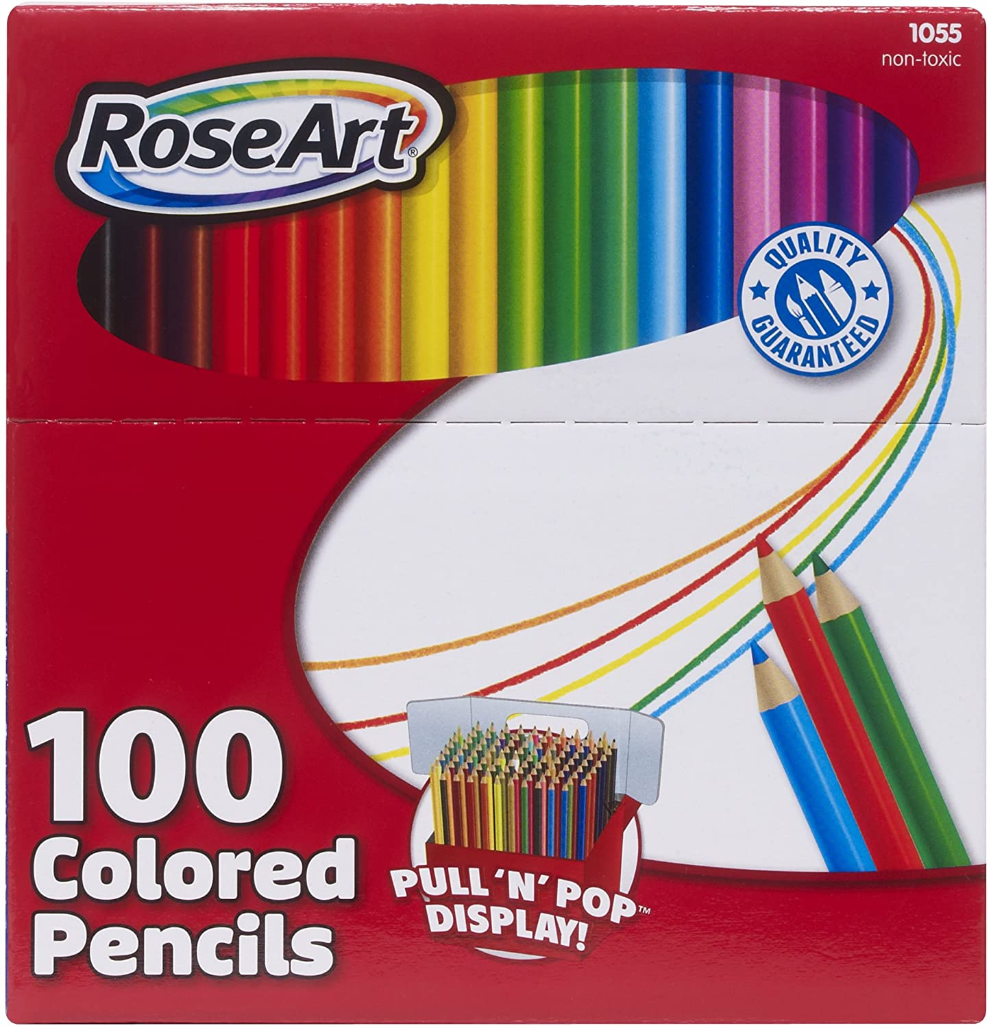 roseart colored pencils  assorted colors  100