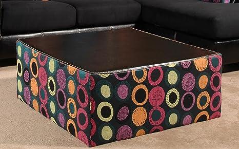 Chelsea Home Furniture Lauren Coffee Table, Elpaso Black/Hollywood Fuschia