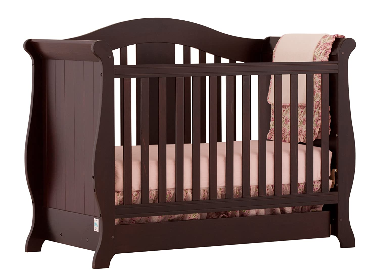 Stork Craft Vittoria 3 in 1 Fixed Side Convertible Crib