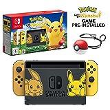 Nintendo Switch Let's Go Pikachu Limited Edition Console with Joycon, Pre-Installed Pokémon: Let's Go Pikachu + Pokeball Plus Controller