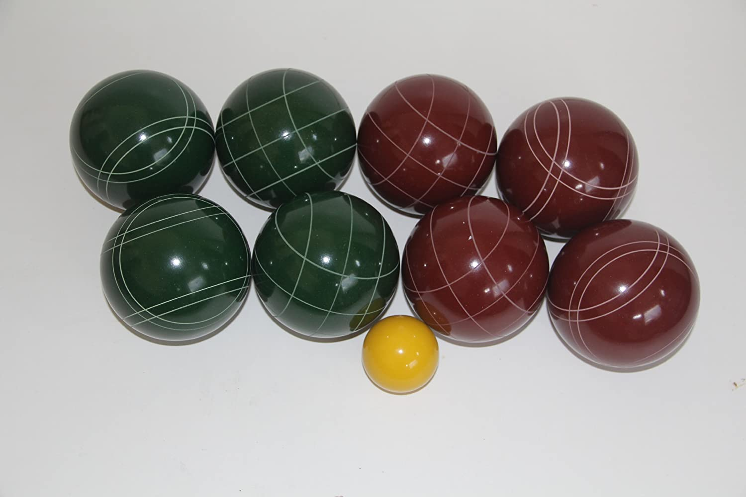 Premium Quality EPCO Tournament Bocce Set - 107mm Red and Green Bocce Balls -...