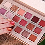 Professional The New Nude Palette, 18 Colors Eyeshadow Palette, Multi-Reflective Matte Glitters Pressed Pearl Concealer Base Shades Waterproof Eye Shadow Makeup Pallete