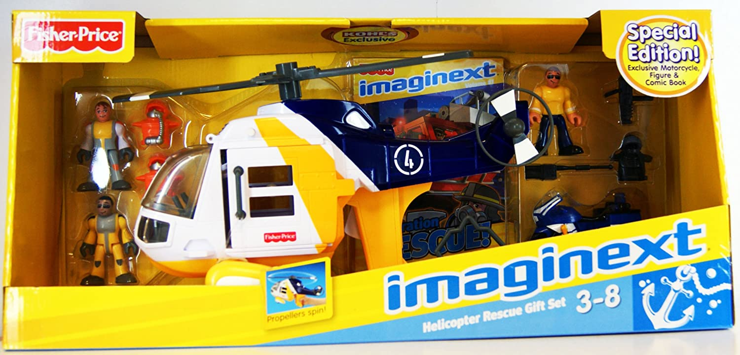 fisher price imaginext helicopter rescue play set