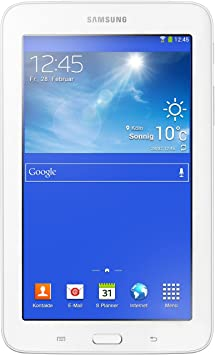 """Samsung SM-T110NDWADBT Tablette tactile 7"""" (17,78 cm) Cortex Core 2 Duo ARM Cortex-A9 1,2 GHz 1 Go Android Jelly Bean 4.2.1 Blanc"""