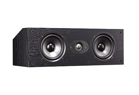 Polk audio tSx 150C haut-parleur central 2 voies, système bass reflex 8 ohm noir