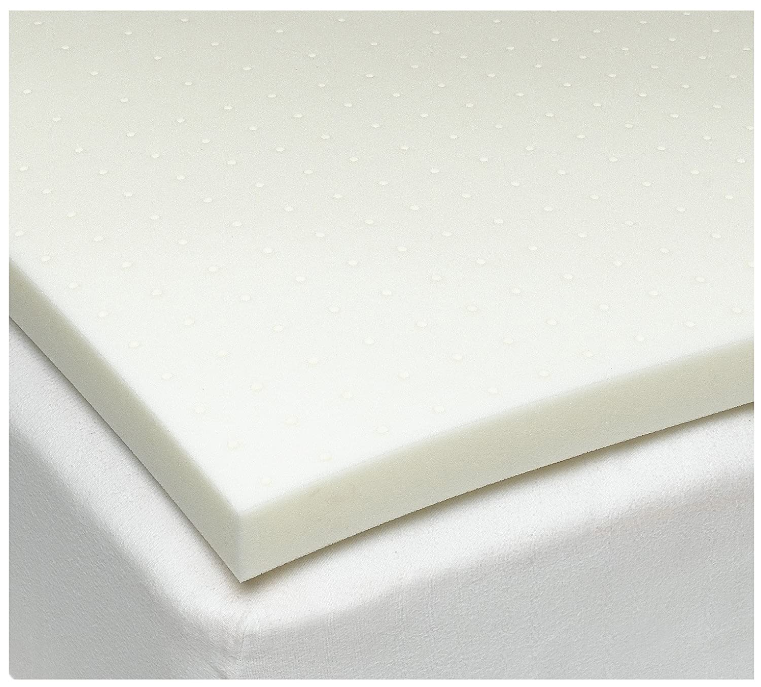 If you don't want a 4 inch memory foam mattress topper and would prefer a 2 inch one, then take a look at this product by Sleep Joy.