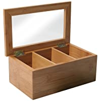 Bamboo Tea Box with Clear Lid