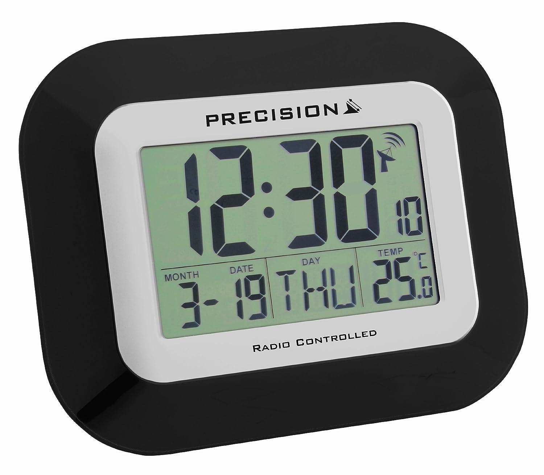 RADIO CONTROL TEMPERATURE DATE DAY DESK WALL CLOCK PREC0097 | eBay