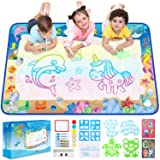 Ophanie Water Drawing Mat for Kids, 47 × 27.5 Inches, Large Doodle Mat for Mess-Free and Fun Doodling, Aqua Painting, Writing, Educational Toys, Improve Motor Skills, Easy to Carry and Clean.