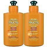 Garnier Hair Care Fructis Curl Nourish Butter Cream Leave-In Conditioner, 2 Count (Color: Triple Nutrition Curl Nourish, Tamaño: 2 Count)