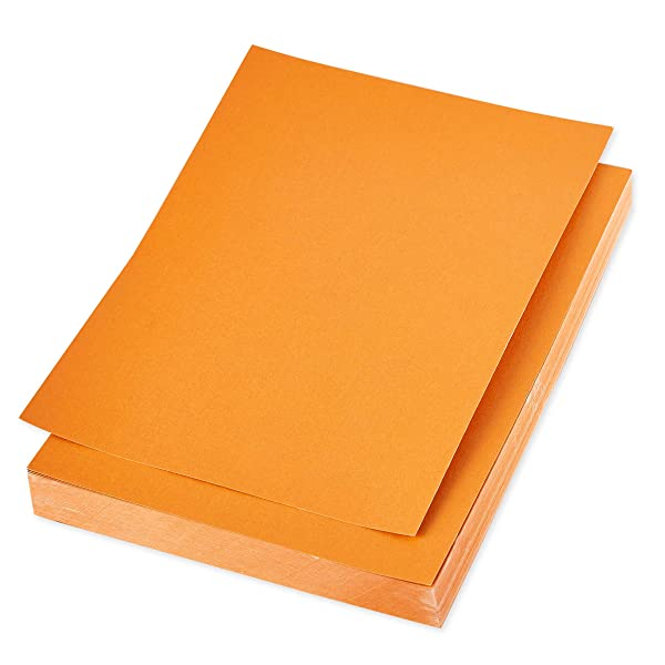 Shimmer Paper - 96-Pack Orange Metallic Cardstock Paper, Double Sided, Laser Printer Friendly - Perfect for Weddings, Baby Showers, Birthdays, Craft Use, Letter Size Sheets, 8.7 x 0.03 x 11 Inches (Color: Orange)