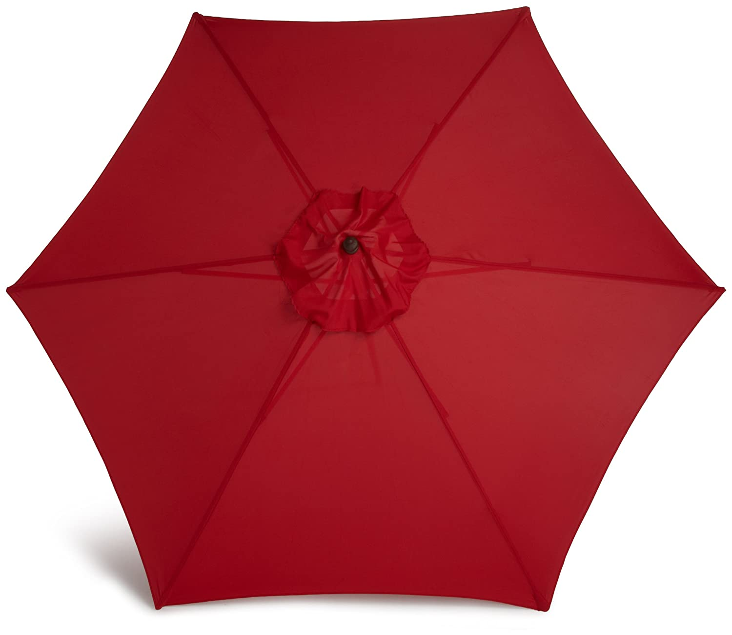 Dark Wood Market Umbrella Weather Resistant w/Polyester Cover Red ...