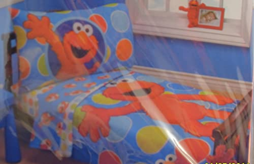 Sesame Street Elmo 4 Piece Toddler Bedding Set