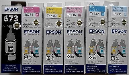 """""""ensemble des bouteilles d'encre pour Epson T673 L800-1800"""
