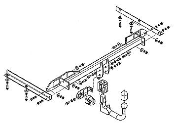 Für Opel Astra IV J 4-Tür Limousine Anhängerkupplung abnehmbar+ES 13p ABE
