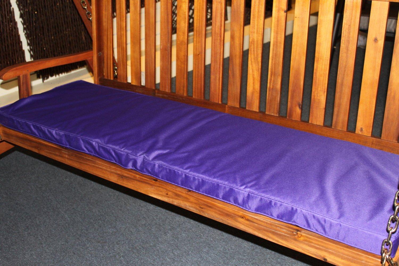 Gartenmöbel-Auflage - Auflage für 3-Sitzer-Hollywoodschaukel oder große Gartenbank in Violett