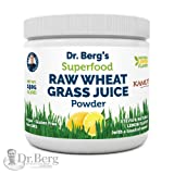 Dr. Berg's Natural Lemon Flavored Wheat Grass Powder with KamutTM -Raw & Ultra-Concentrated Nutrients -Rich in Vitamins, Chlorophyll & Trace Minerals (1 Pack) (Color: Kamut Lemon Flavored, Tamaño: 1 Pack)