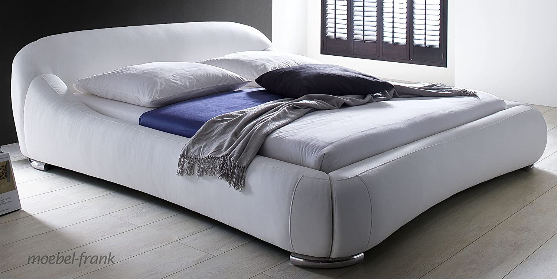 Polsterbett 160×200 creme-weiss Kunst-Lederbett Design Bett Doppelbett Pietra günstig