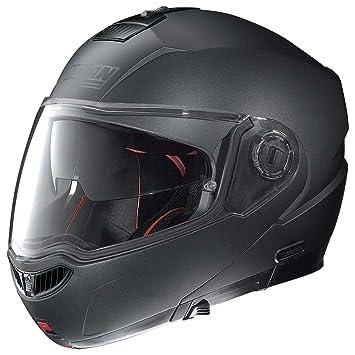 Nolan n 104 aBSOLUTE sPECIAL n-cOM casque flip-up couleur :  noir, taille s :  graphite