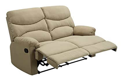 Glory Furniture G407-RL Reclining Loveseat, Beige