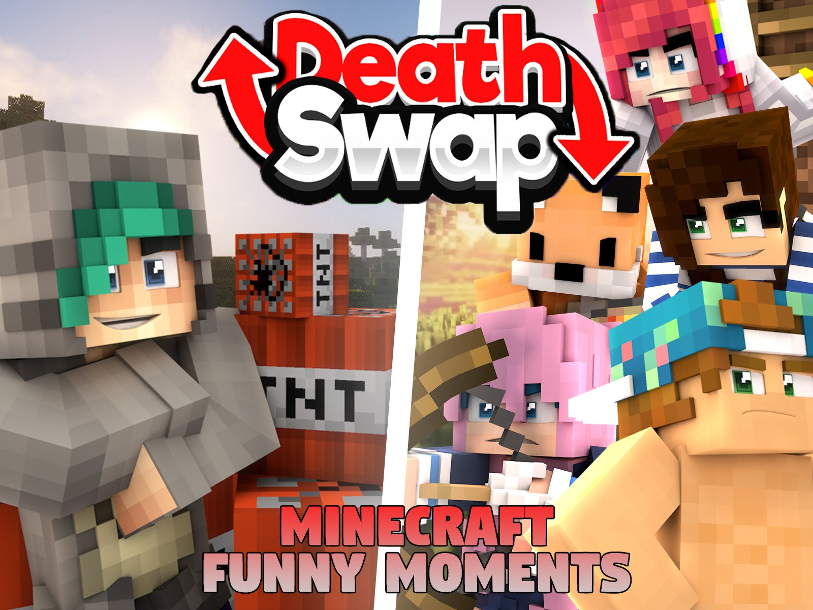 Death Swap (Minecraft Funny Moments)