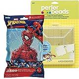 Perler Pattern Bag - Spider-Man with 4 Large Pegboards (Color: Spider-man)