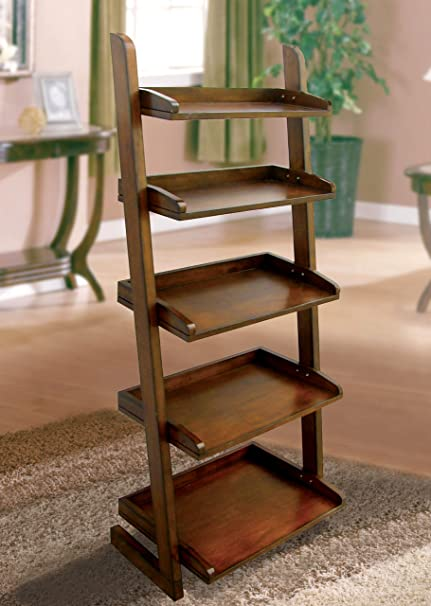 Lugo Bookcase/Storage Cabinet in Antique Oak