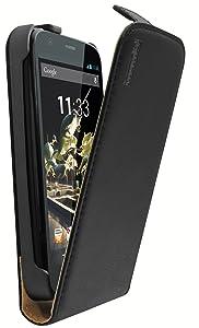 Mumbi - Funda de piel con tapa para Motorola G, color negro - Electrónica - Comentarios y descripción más