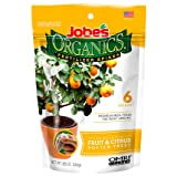 Jobe's Organics Fruit & Citrus Tree Fertilizer Spikes, 3-5-5 Time Release Fertilizer for all Container or Indoor Fruit Trees, 6 Spikes per Package (Color: Original Version, Tamaño: 6 Spikes)